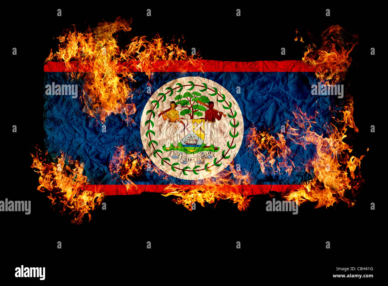 National symbols and flag of belize stock photo royalty free national symbols and flag of belize biocorpaavc Image collections