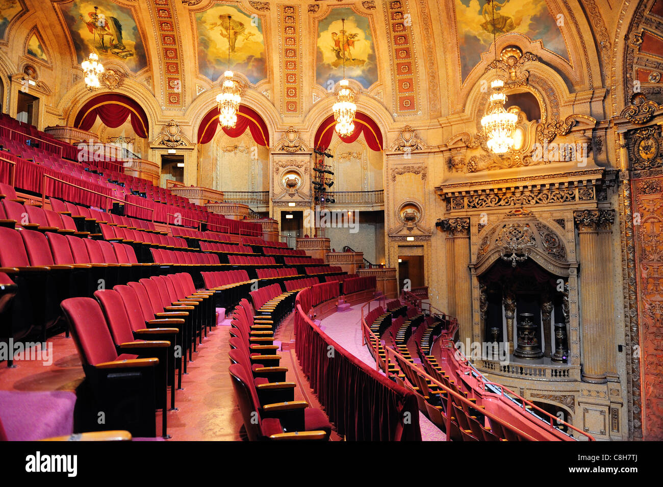 Chicago Theatre Interior View Stock Photo Royalty Free
