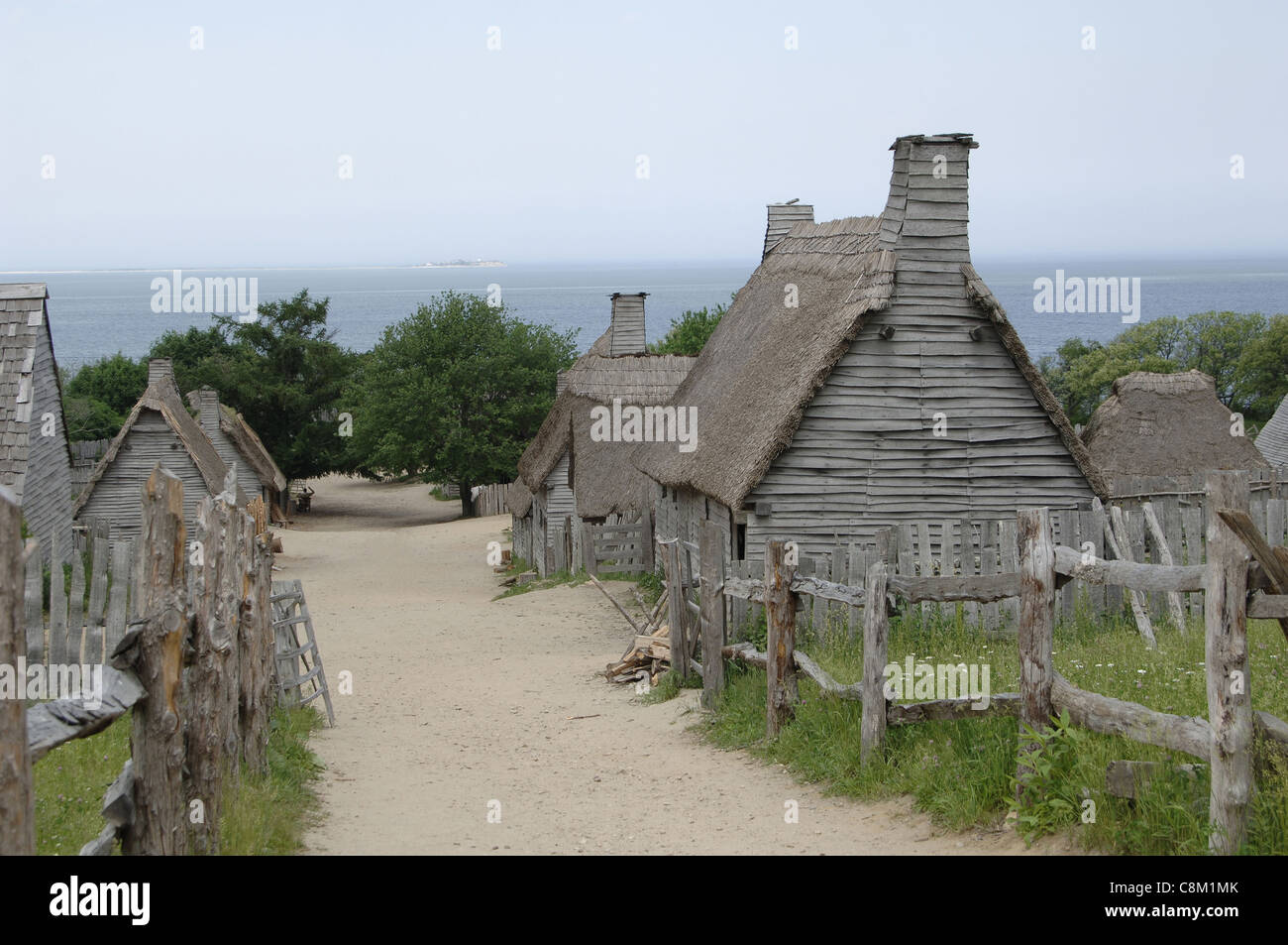 Plimoth Plantation or Historical Museum. English village ...