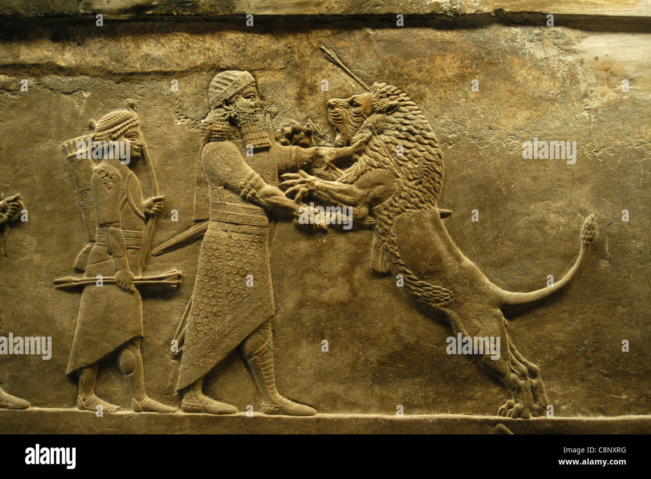 lion hunt of ashurbanipal Ashurbanipal slitting the throat of a lion from his chariot (detail), ashurbanipal hunting lions, gypsum hall relief from the north palace, ninevah dr senta german, assyrian art, an introduction, in smarthistory, august 8, 2015, accessed april 18.