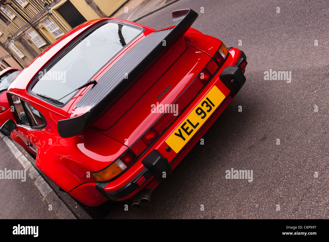 A Porsche 911 Turbo Classic Car In Lavenham Suffolk England Stock Photo Royalty Free Image