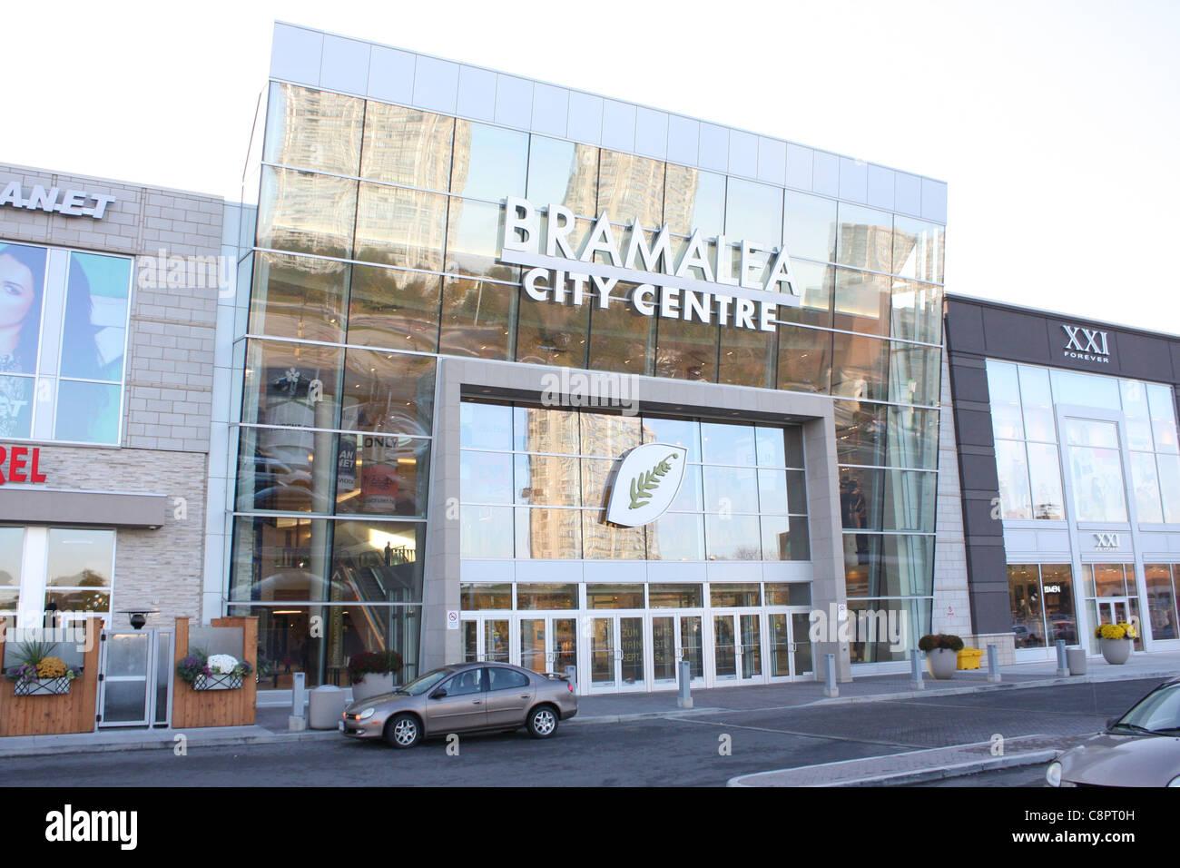 Brampton (Ontario) malls and shopping centres. The biggest Brampton shopping mall: Bramalea City Centre. The biggest Ontario shopping mall: Brampton Mall in Brampton. Main St S, Brampton, Ontario, L6W 2C9. 23 stores Bramrose Square in Brampton. Queen St E, Brampton.