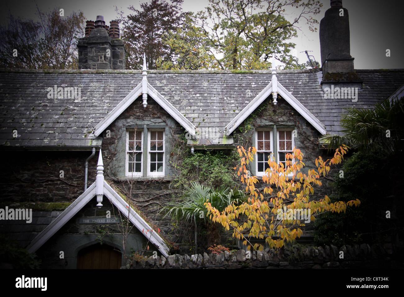 Cottage - Keswick - The Lake District Stock Photo, Royalty Free ...