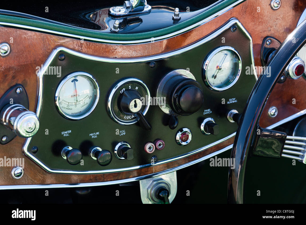 England Vintage Classic Car Austen Mg Dashboard With