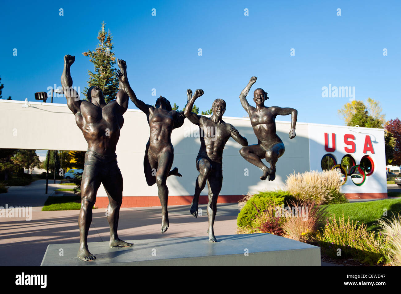 Art colorado springs - A Sculpture In Front Of The U S Olympic Training Center Colorado Springs Colorado