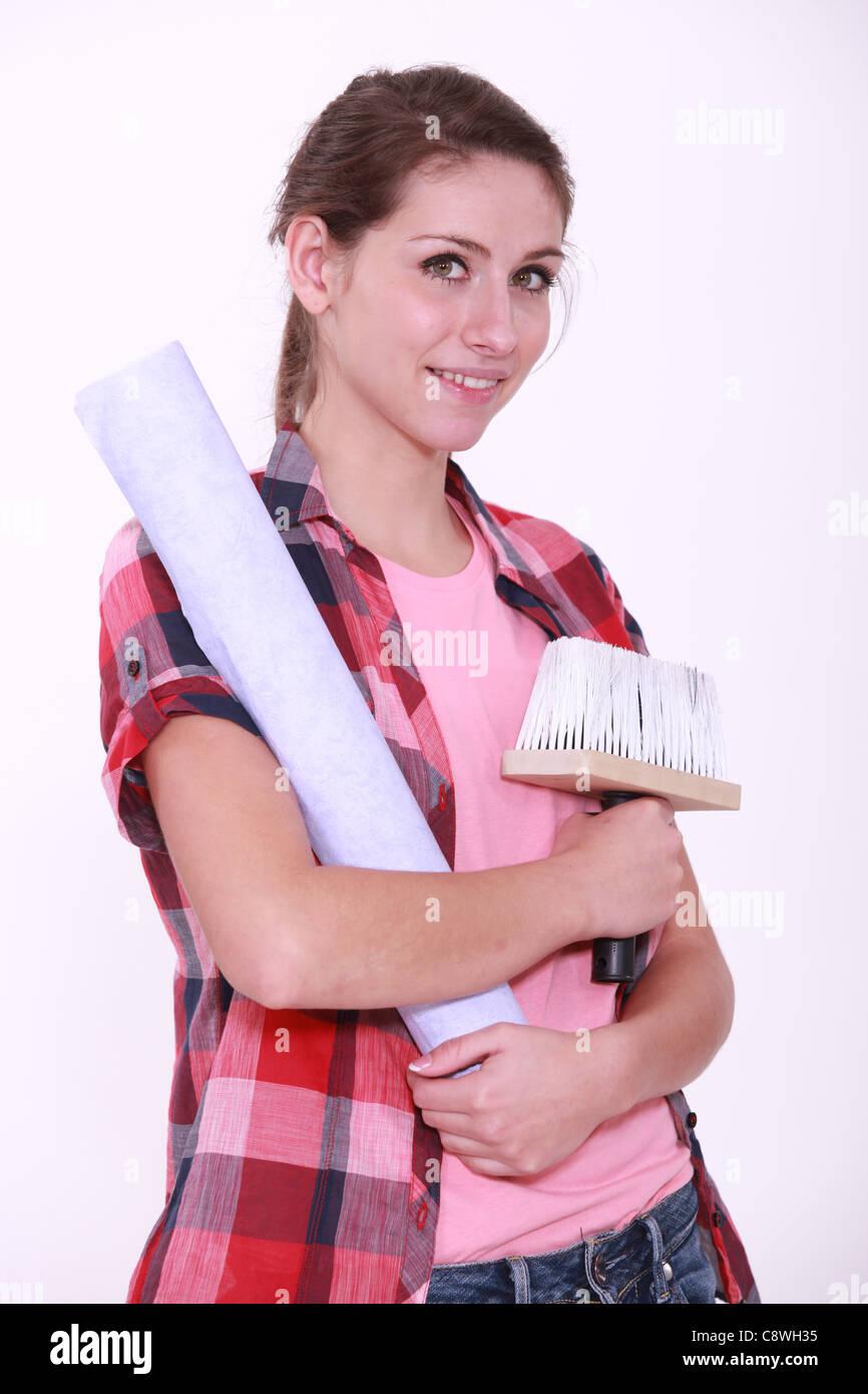 Stock Photo   Young Interior Designer