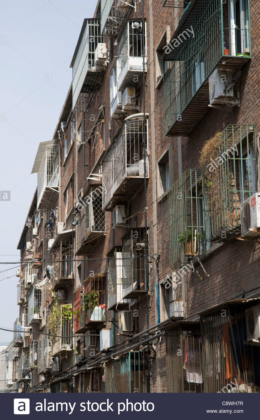 An old apartment building in central Beijing China Stock Photo ...