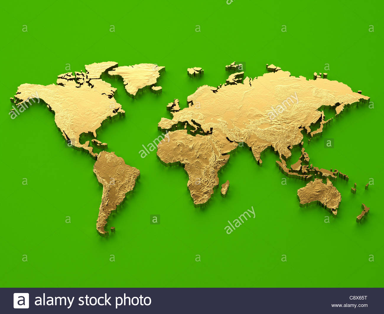 Gold world map on green background stock photo royalty free image gold world map on green background gumiabroncs Gallery
