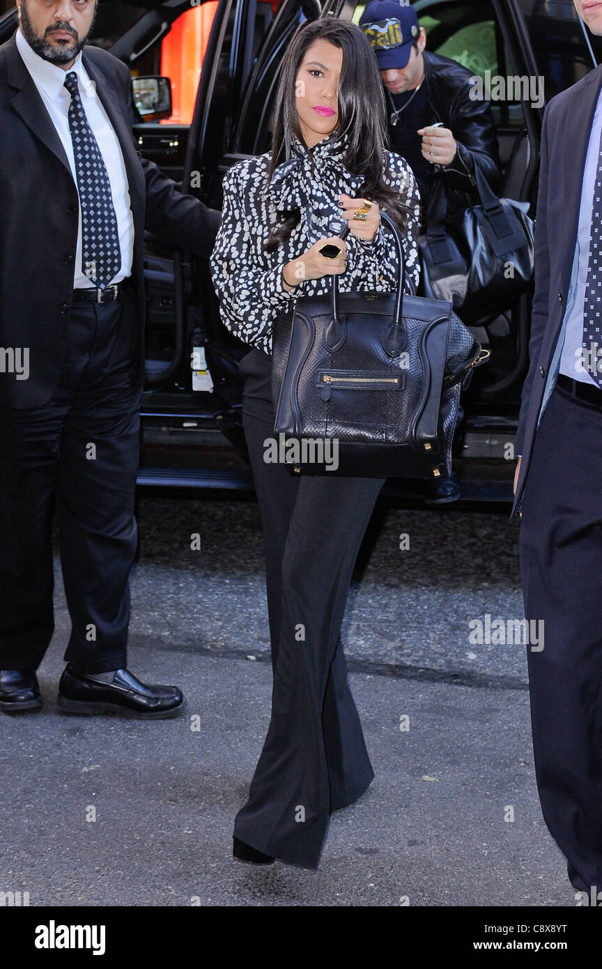 Kourtney Kardashian Carrying Celine Bag Enters Her Midtown ...