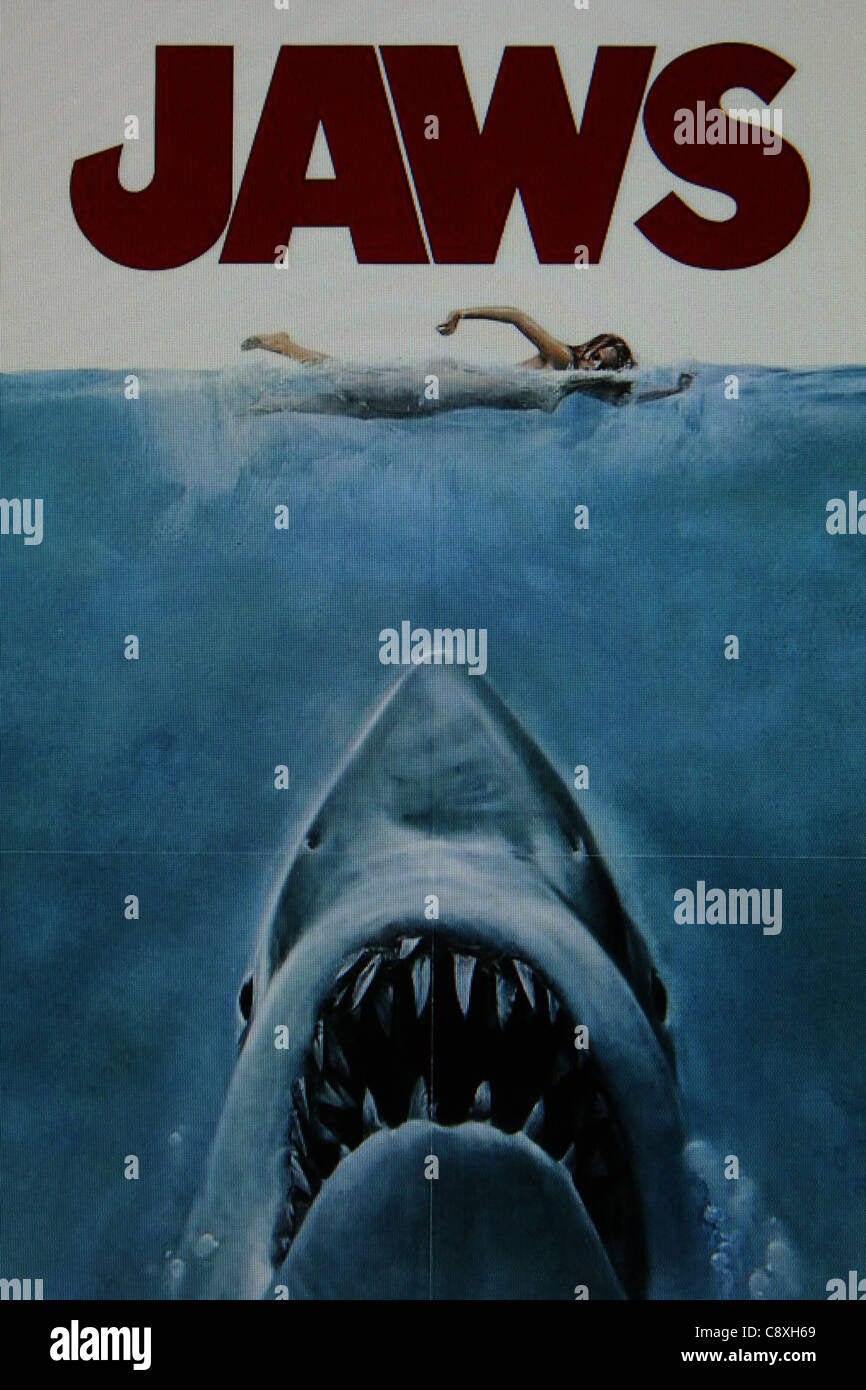 jaws 1975 movie poster Stock Photo, Royalty Free Image ...