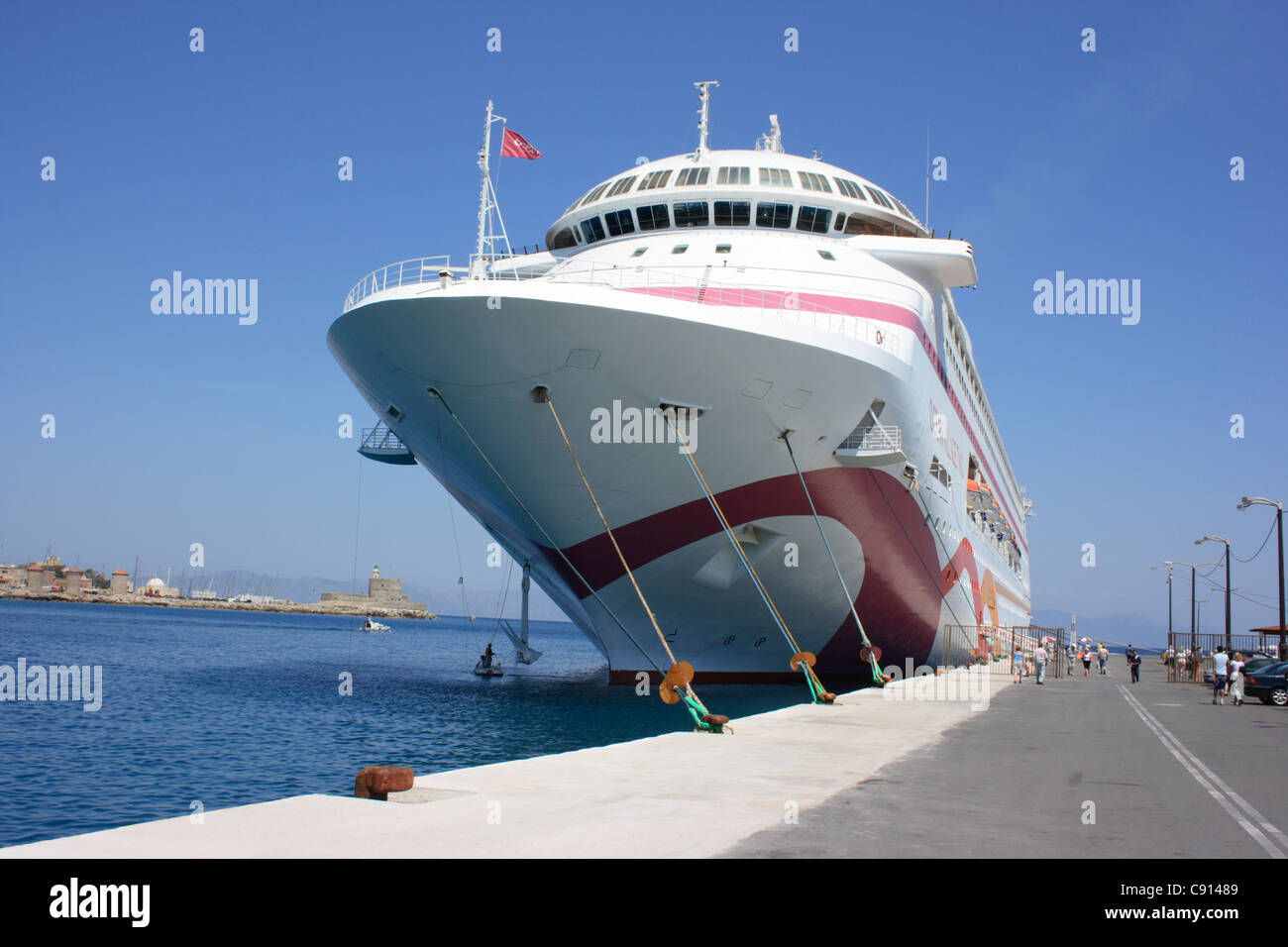 There Are Many Cruise Ships At The Harbour In Rhodes Which Is A - How many cruise ships are there