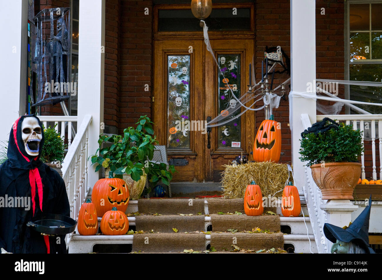 House Decorated For Halloween Montreal Canada Stock Photo Home Decorators Catalog Best Ideas of Home Decor and Design [homedecoratorscatalog.us]