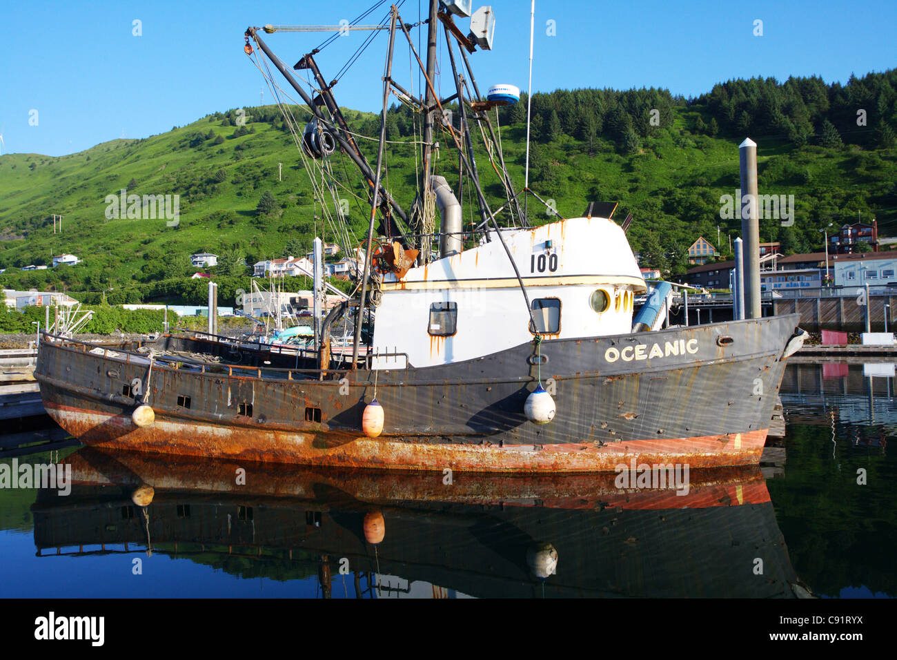 Kodiak island alaska small boat harbor rusty old fishing for Old fishing boat