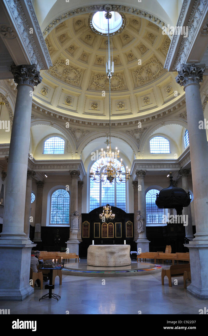 Church Of St Stephen Walbrook City Of London UK.Originally A Saxon Church  Built In