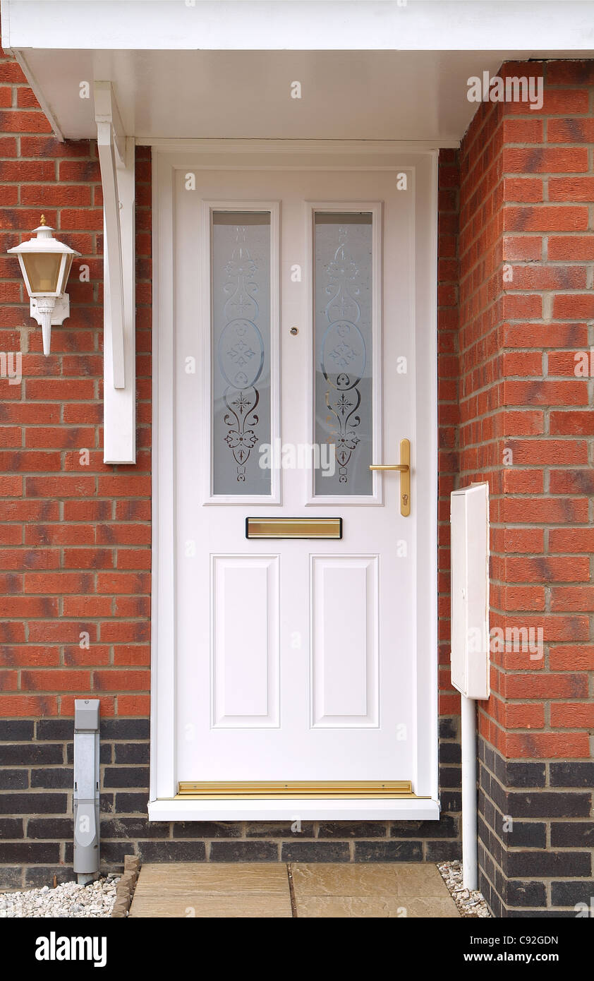 Modern, Executive Style White Plastic Front Door