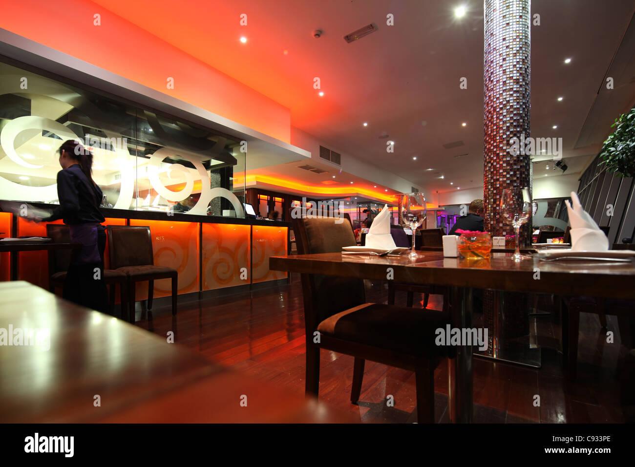 Asian lounge restaurant