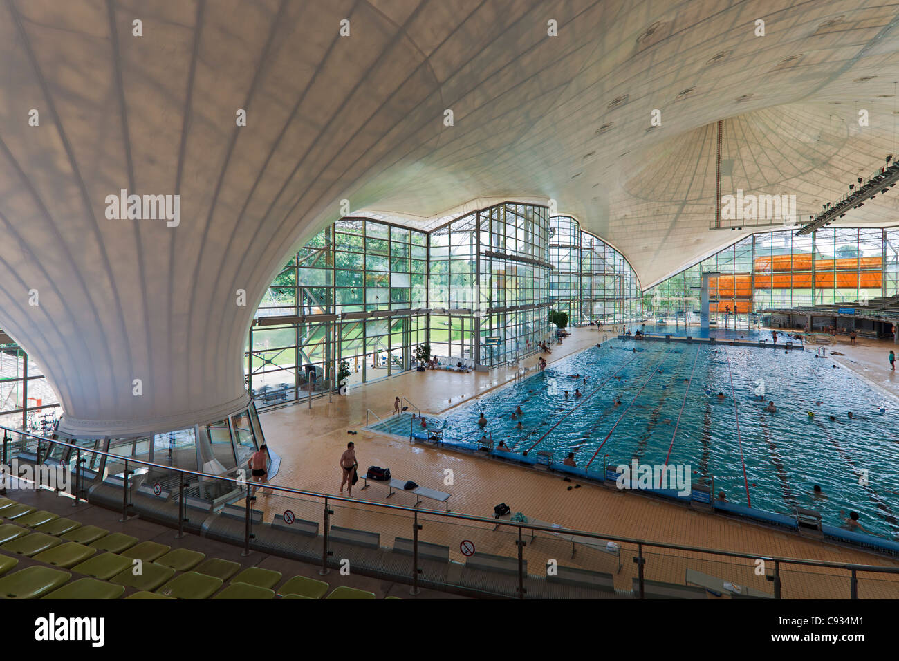Interior of the munich olympic swimming pool munich olympic park stock photo 40022193 alamy - Olympic swimming pool ...