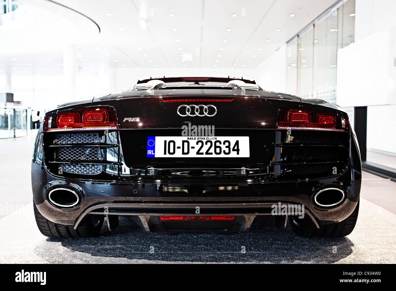 Beau Rear View Of Audi R8 V10 Quattro Super Sports Car In The Audi Forum In  Neckarslum