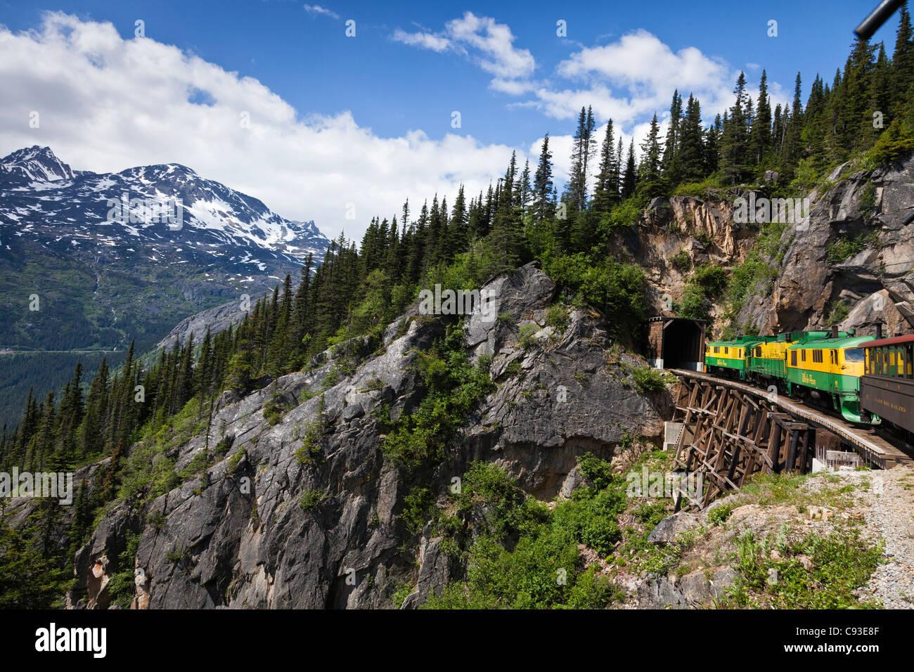 White Pass and Yukon Railroad en route from Skagway Alaska