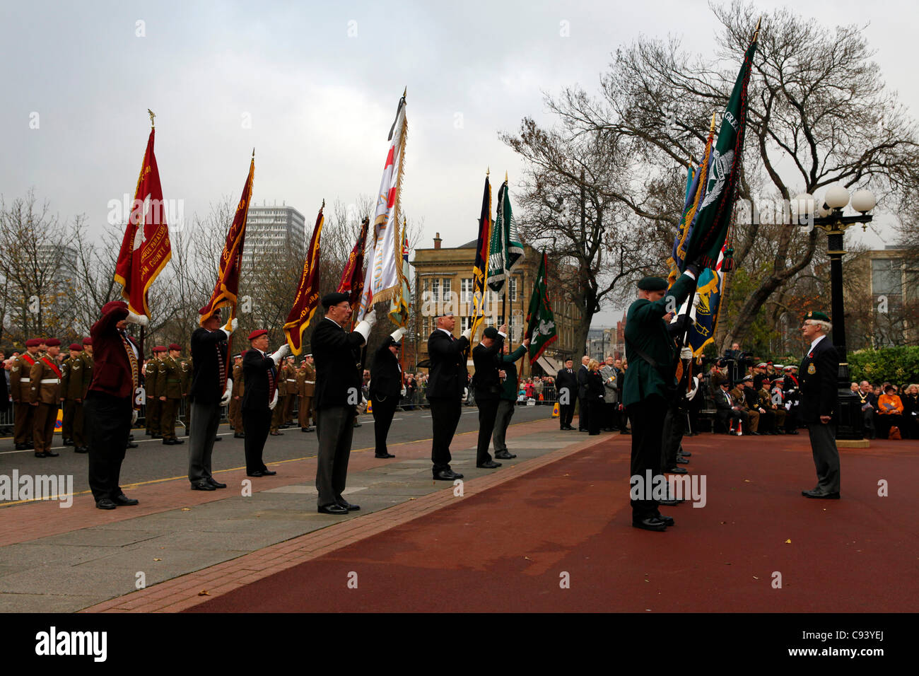 british legion at the armistice day remembrance day ceremony and