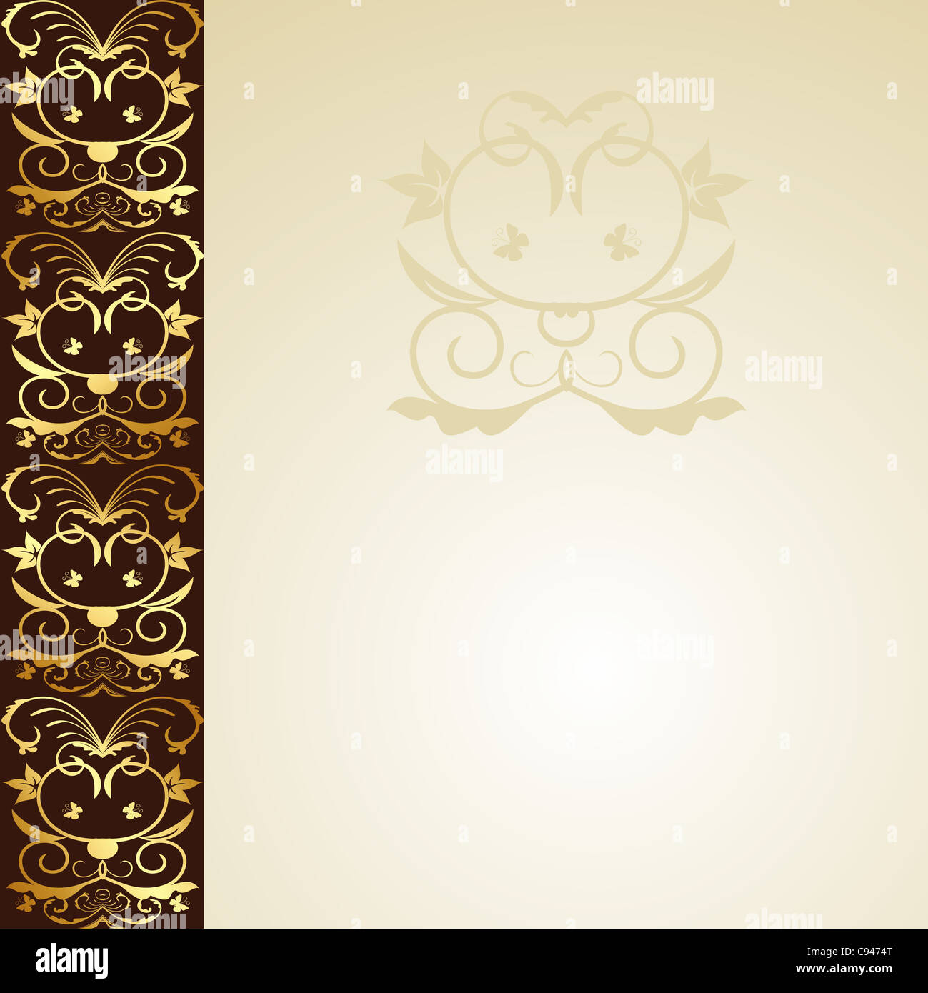 Illustration floral background for design wedding card ...