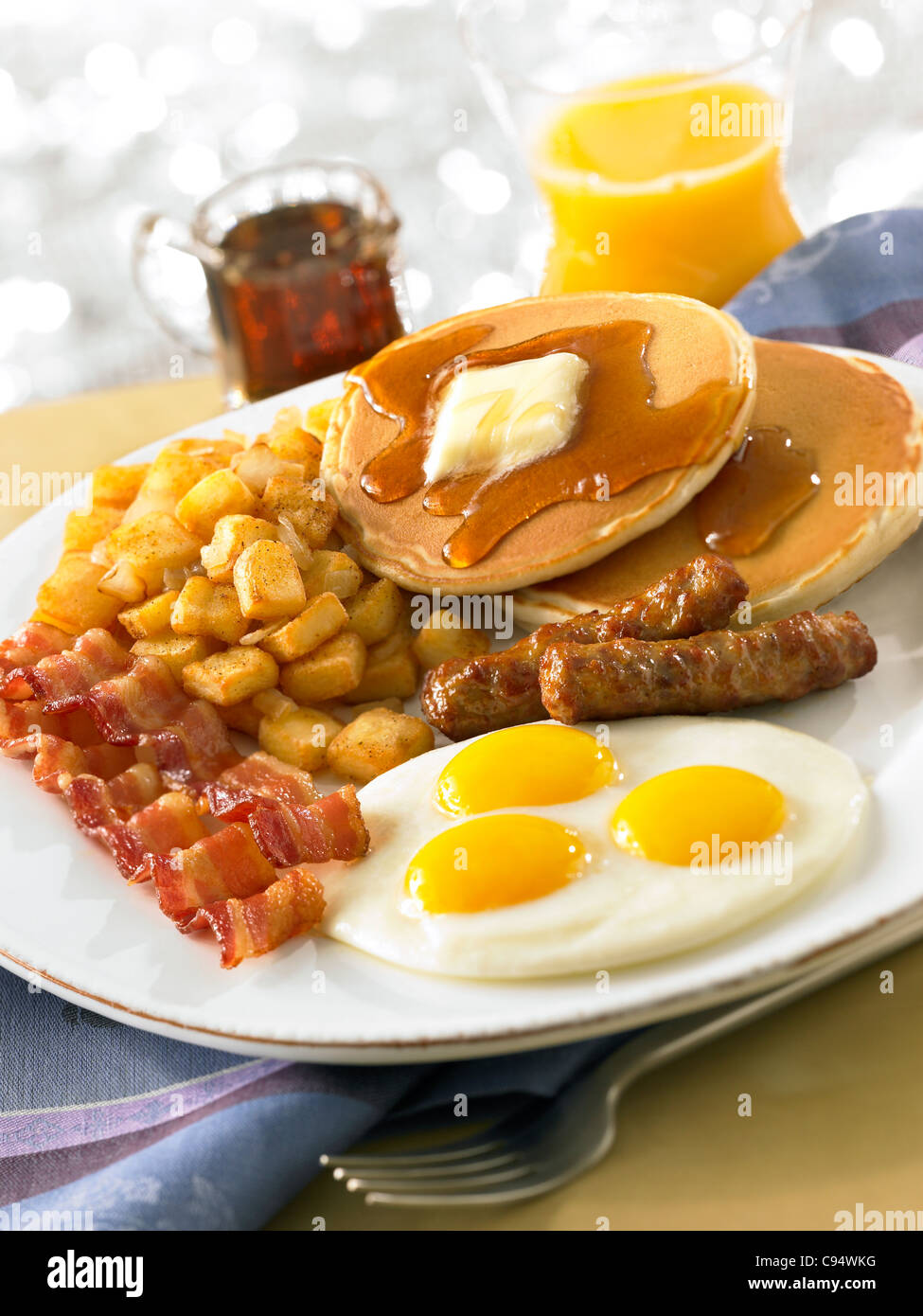 pancake and bacon breakfast - photo #32