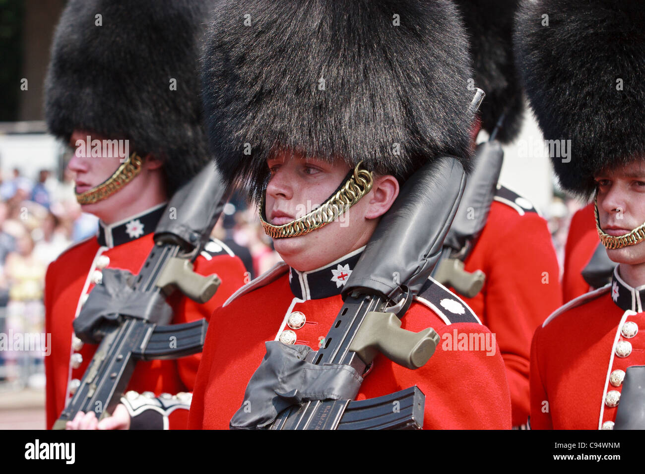 The governor general s foot guards - Foot Guards With Machine Guns On Parade Outside Buckingham Palace London United Kingdom