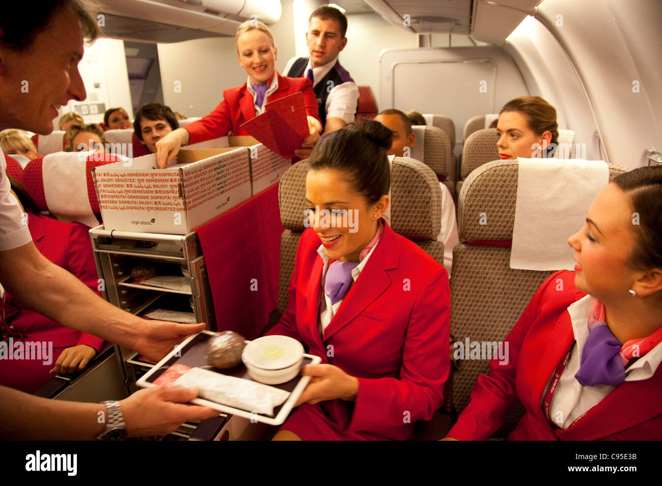 Virgin Stewardess Training