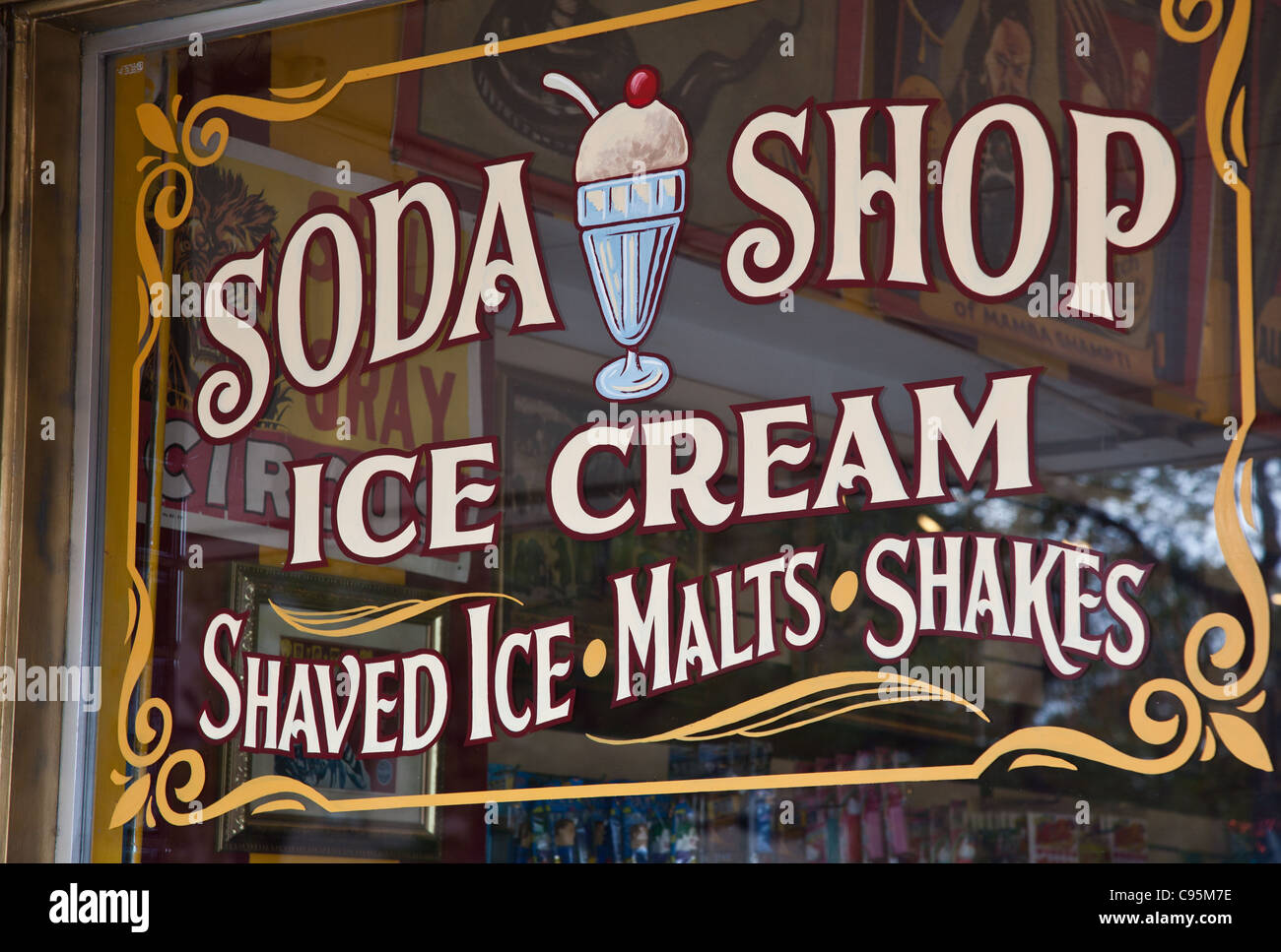 an old fashioned sign at big top candy shop in austin