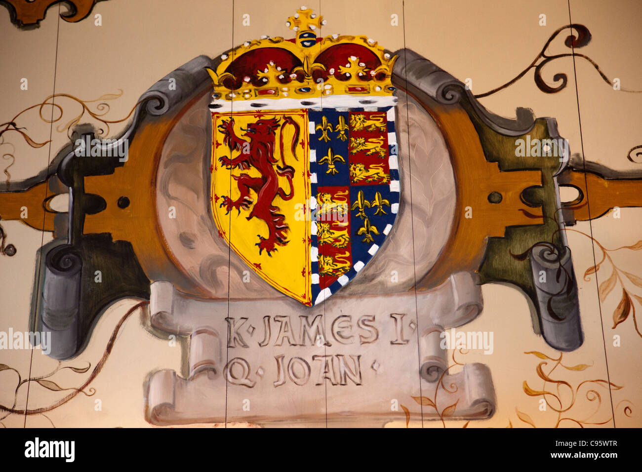 scotland, edinburgh, edinburgh castle, royal palace decoration in