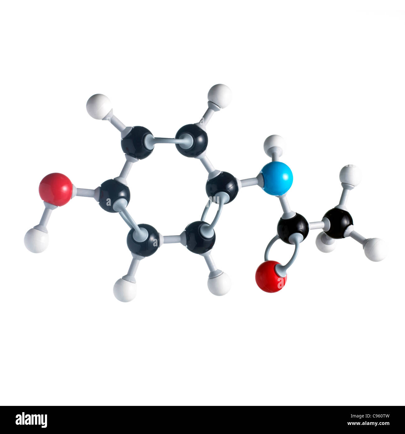 Paracetamol Molecule Structure Stock Illustration - Image: 52666299
