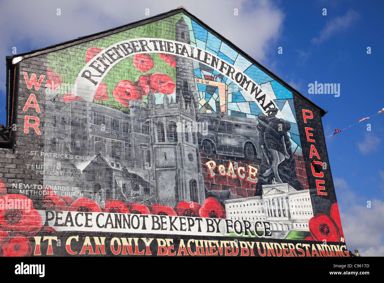 Northern ireland belfast peace mural in east belfast for Mural belfast