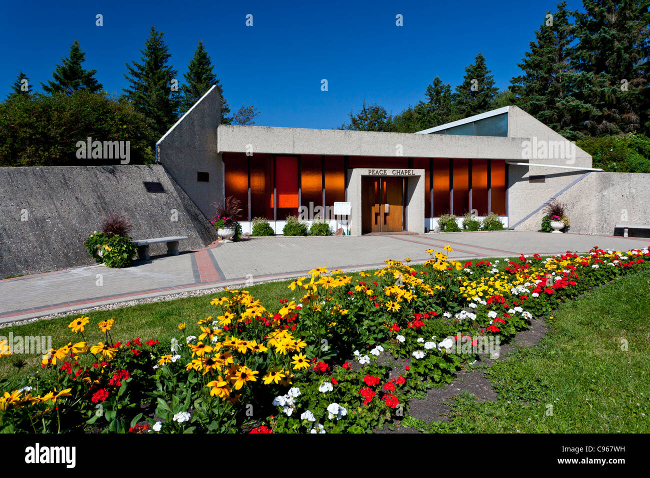 The Peace Chapel At The International Peace Garden On The North Stock Photo Royalty Free Image