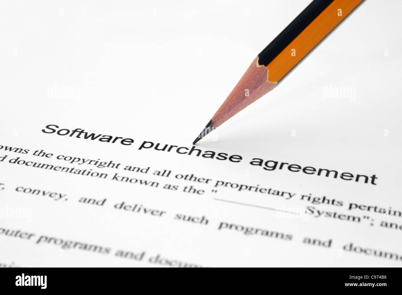 Software purchase agreement stock photo royalty free image software purchase agreement stock photo platinumwayz