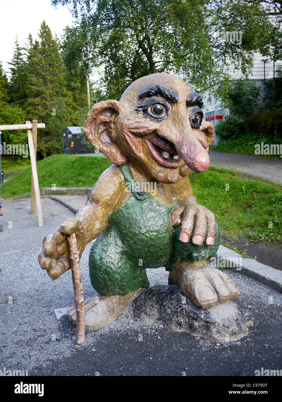Bergen Norway a statue of a troll Stock Photo Royalty Free Image