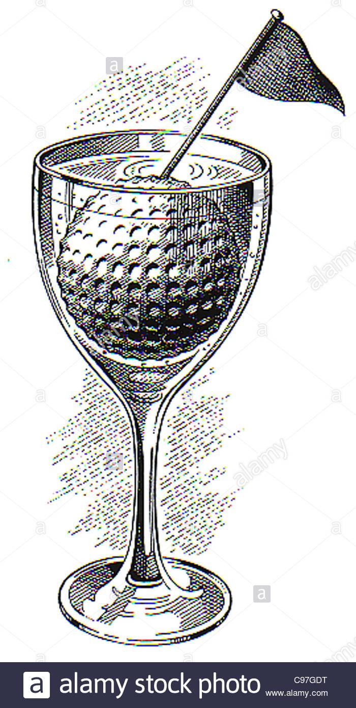 Golf Ball in wine glass Golf golf items golfausruestung ... Golf Ball On Tee Clipart