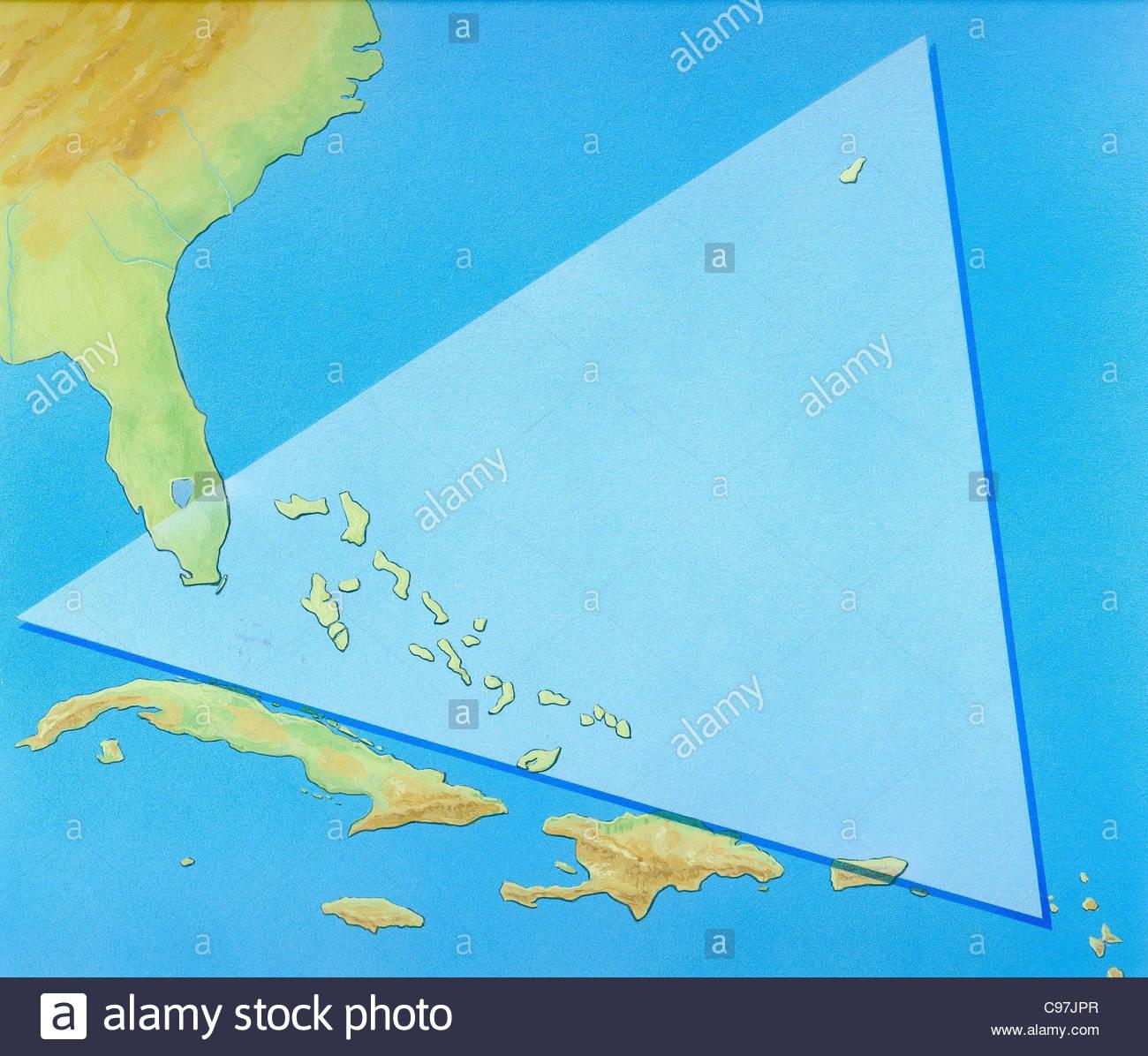 Bermuda Triangle Shipwrecks Map