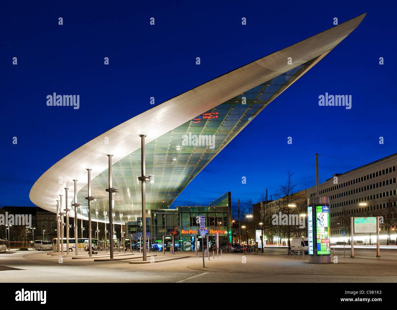 Modern Architecture Europe zob, central bus terminal, modern architecture, st. georg, hamburg