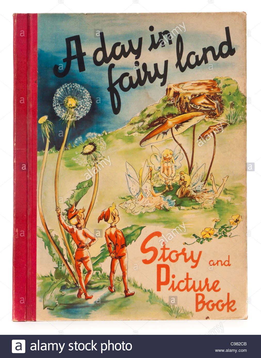 Vintage Children S Book Cover Prints : S children book quot a day in fairyland by sigrid