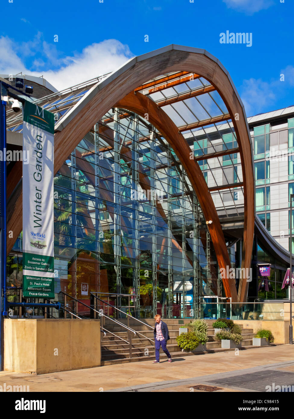 sheffield winter garden south yorkshire uk one of the largest