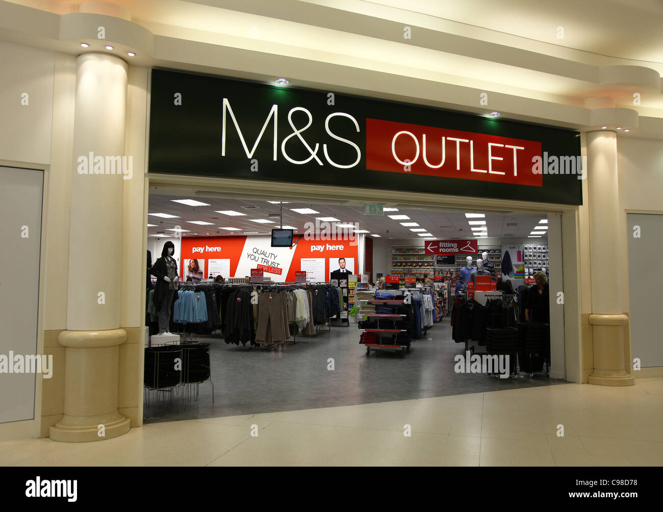 Marks and Spencer Outlet Closed - Open from - About. From everyday essentials to the in-house labels of Per Una, Indigo, Classic, Autograph, Blue Harbour, North Coast & Collezione. We'll let you know when your order has arrived in store and is ready for you to collect.