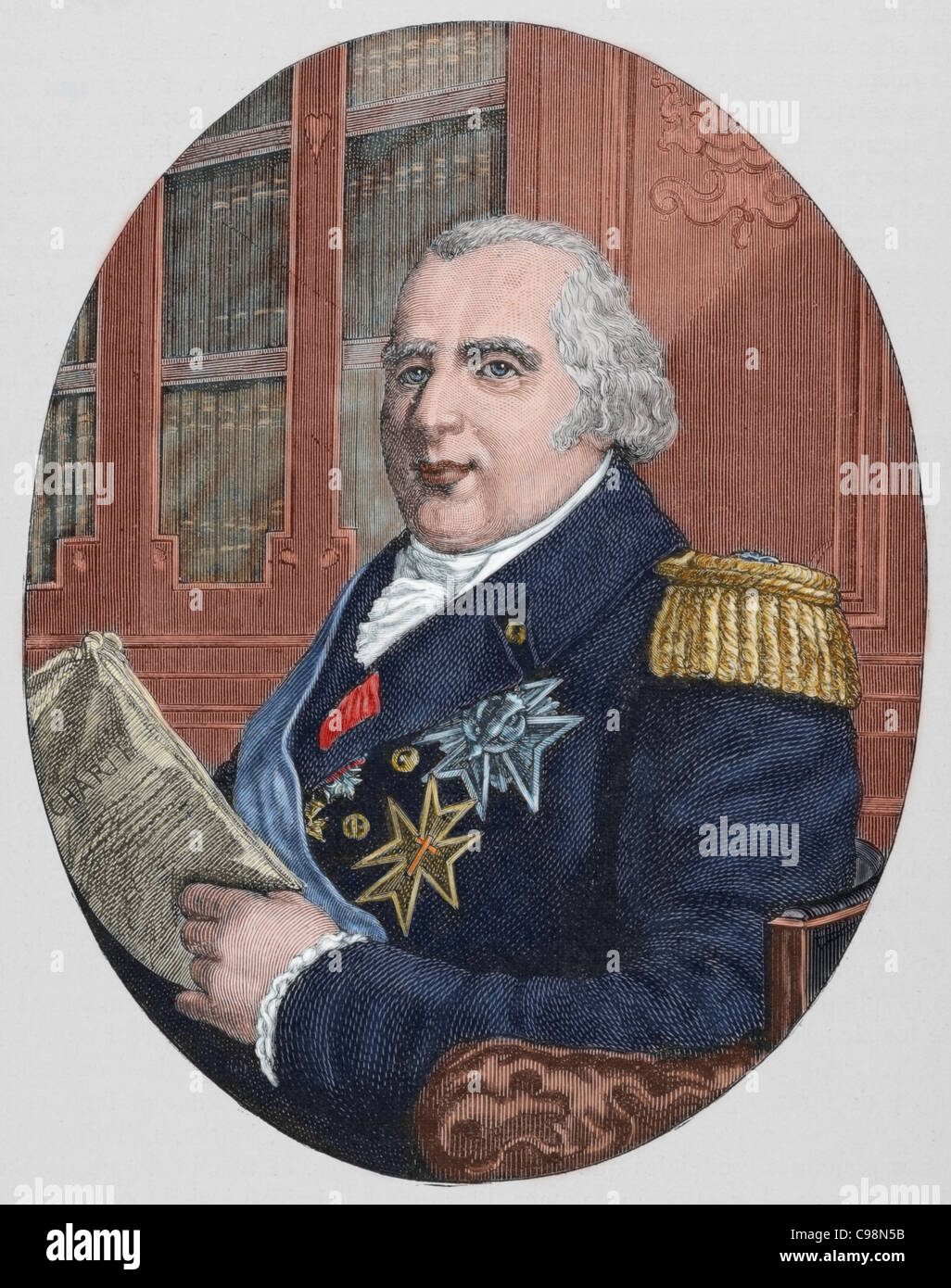 Louis XVIII (1755-1824). King of France from 1814-15 and ...
