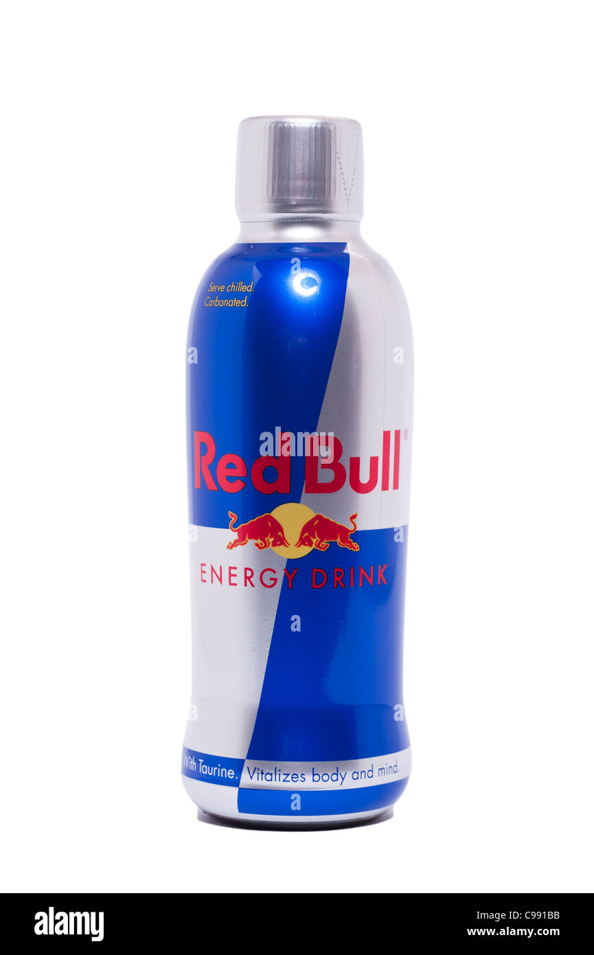 a bottle of red bull energy drink on a white background. Black Bedroom Furniture Sets. Home Design Ideas