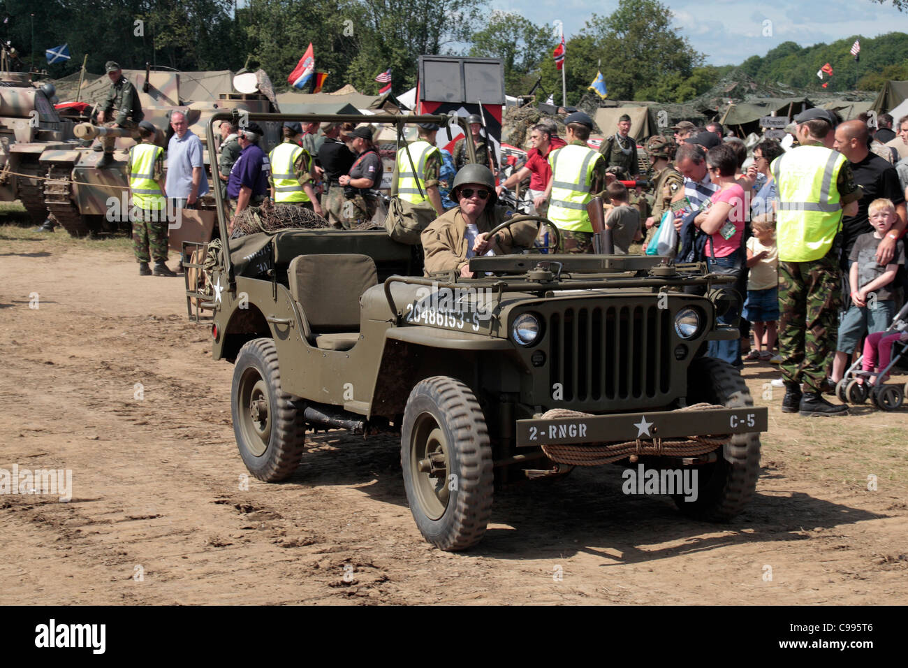 American world war two jeep on display at the 2011 war peace show at hop