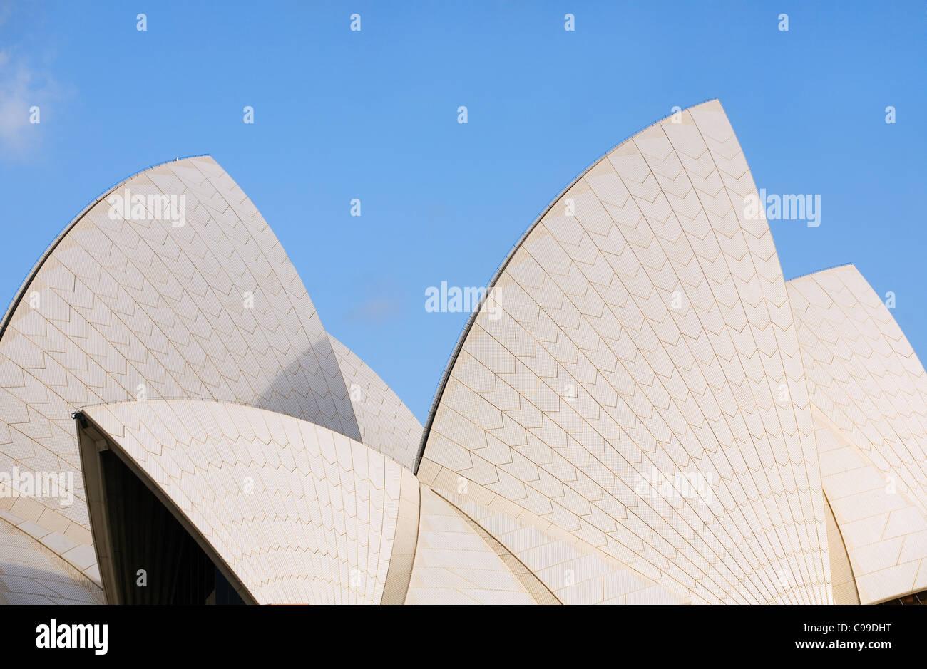 Stock Photo   The Iconic Architecture Of The Sydney Opera House. Sydney,  New South Wales, Australia
