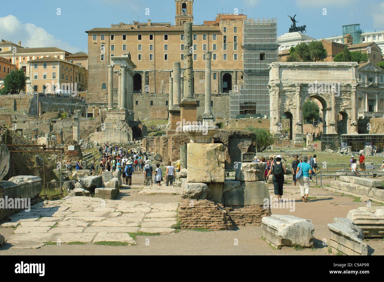 Forum Romanum In Rome Italy Stock Photos &- Forum Romanum In Rome ...