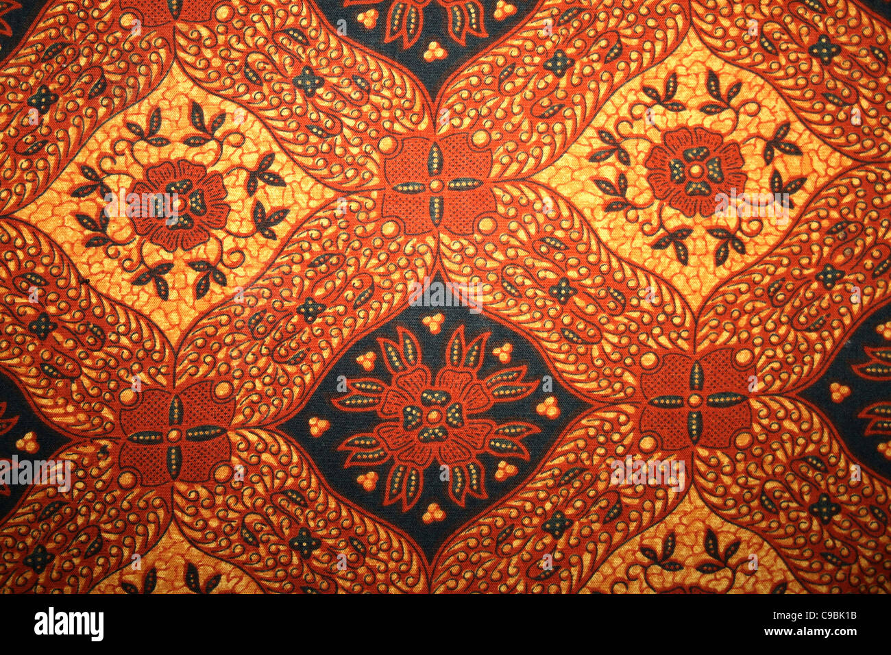 Traditional Batik Work From Indonesia Stock Photo, Royalty