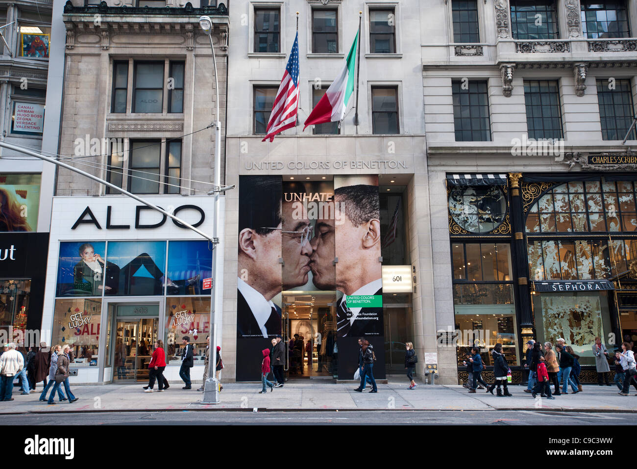 the benetton store on fifth avenue in new york seen on