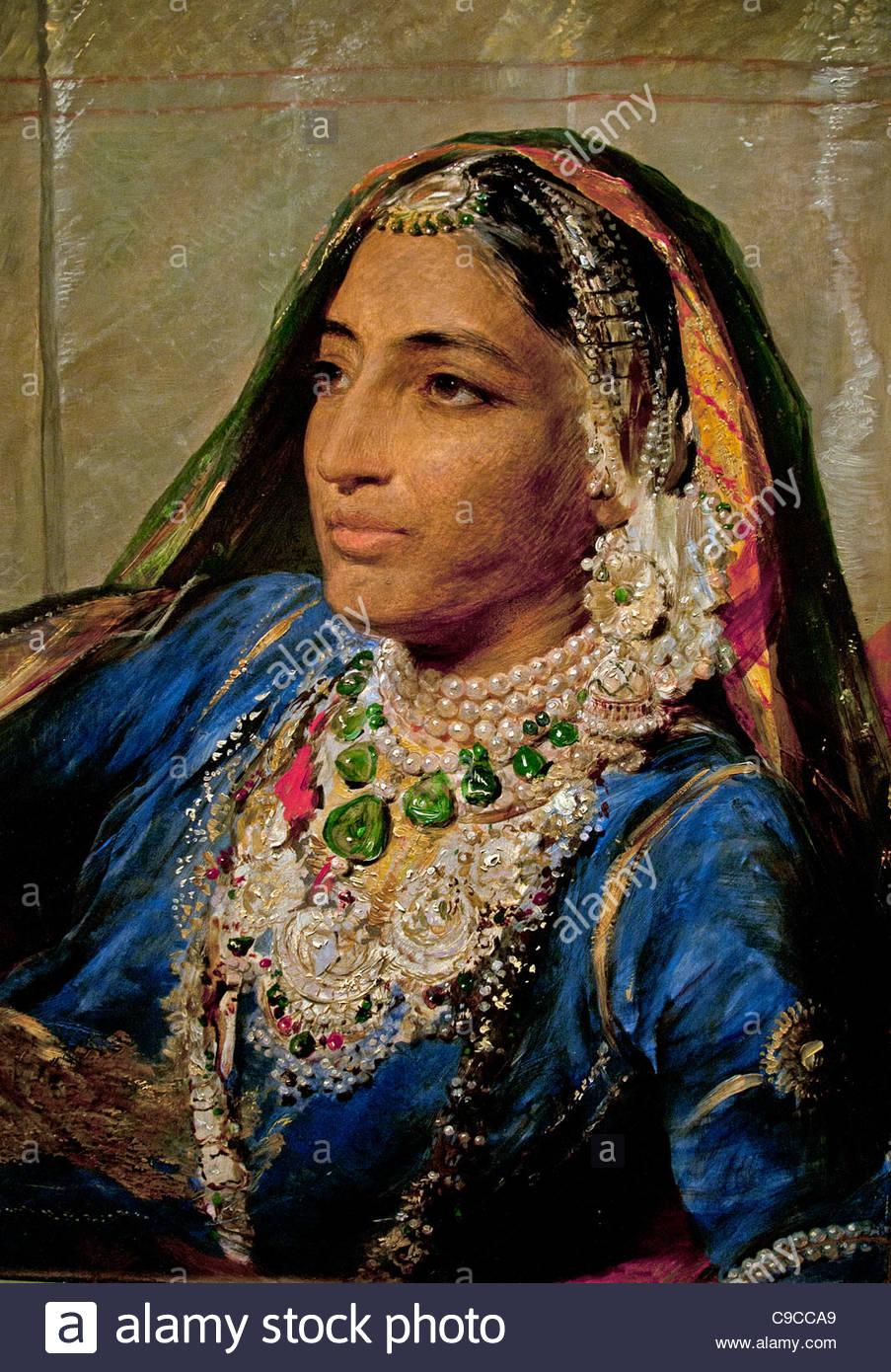 Portrait Of Maharani Jindan 1896 Queen Of Ranjit Singh