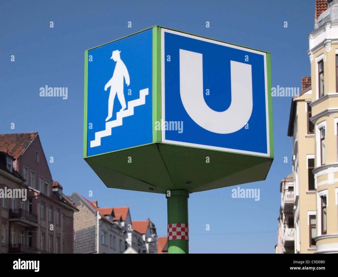 u bahn german underground train sign stock photo royalty free image 40238324 alamy. Black Bedroom Furniture Sets. Home Design Ideas